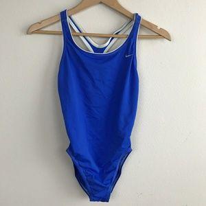 Nike Swimwear One Piece Blue Sz: 12